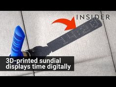 Julien Coyne invented a digital sundial. Sundials usually cast a line or triangle to indicate the hour. This one is designed so that when light passes throug...
