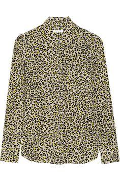 Equipment Brett leopard-print washed-silk shirt NET-A-PORTER.COM