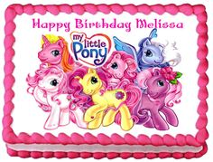 MY LITTLE PONY Edible image Cake topper by SweetiesCakeToppers