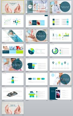 Simple Medical and health design PowerPoint template - meeting culture marketing background Powerpoint Tutorial, Powerpoint Design Templates, Creative Powerpoint, Ppt Template, Business Presentation, Presentation Design, Professional Presentation, Medical Brochure, Book Design Layout