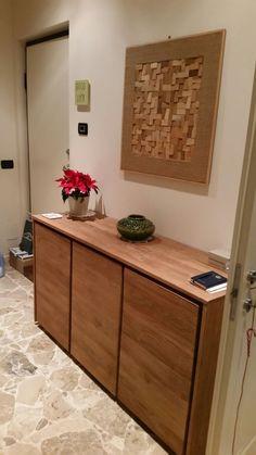 Modulo A2. Il quadro è stato composto assemblando dei cunei di legno utilizzati dai posatori di parquet.