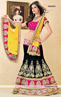 Dark Violet Velvet Readymade Lehenga Choli  ||   SANS630  ||  INR  70,000/-  ||