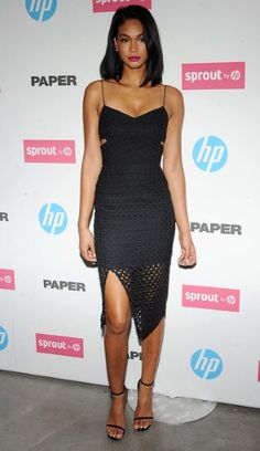 Chanel Iman red carpet style