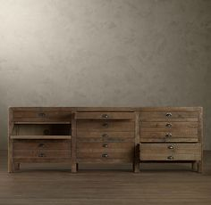 PRINTMAKER'S MEDIA CONSOLE  $1395 - $1695..... love this rustic TV console