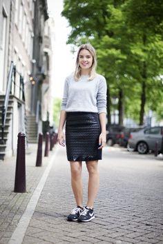 Zara sweater/H&M Trend skirt/Nike sneakers
