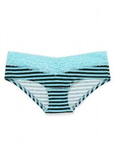 Lace Trim Hipster Panty - PINK - Victoria's Secret