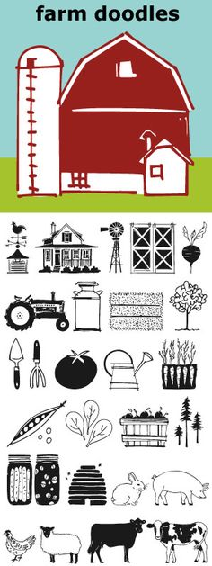 Collection of illustrations to be used for everything from the Farm to Table movement to the current trend of weddings on a farm. Mix and match with other Outside the Line illustration fonts.
