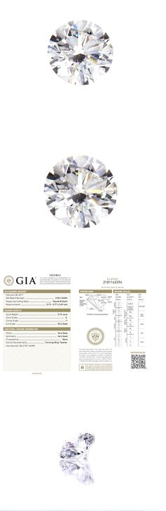Natural Diamonds 3824: Gia Certified Natural Round Cut Loose Diamond 0.72 Ct G Color I1 Clarity -> BUY IT NOW ONLY: $1375 on eBay!