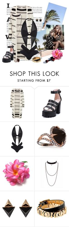 """""""Sunny day at the pool <3"""" by nikol128 ❤ liked on Polyvore featuring Madeleine Thompson, Agent Provocateur, Katie Rowland, Louis Vuitton and GUESS"""