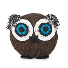 Crocheted Owl Pillow