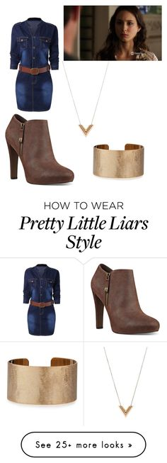 """""""Spencer Hastings inspired"""" by breepartin on Polyvore featuring Nine West, Louis Vuitton and Panacea"""