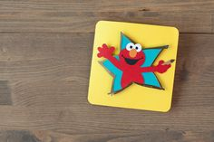 Sesame Street Elmo's Party Cricut image set -- Elmo Pop-up card. Make It Now with the Cricut Explore machine in Cricut Design Space.