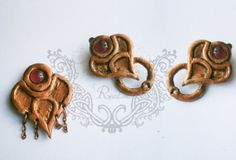 ESO inspired clips earrings and  head accesorie by NeehellinsRealm, $35.00