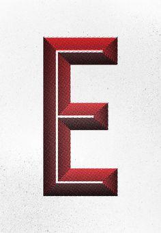 Halftone E by ConorDesign