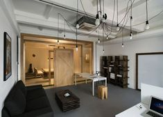 Modern industrial office interior design office interior furniture medium size of modern industrial office interior design Office Interior Design, Office Interiors, Interior And Exterior, Pride And Glory, Cool Office Space, Small Office, Appartement Design, Workplace Design, Industrial Office