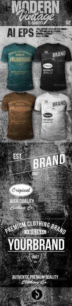 Modern Vintage TShirt 02 — Vector EPS #grunge #modern • Available here → https://graphicriver.net/item/modern-vintage-tshirt-02-/6633183?ref=pxcr