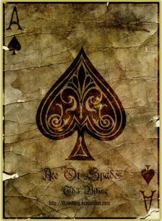 Grunge Ace of Spades