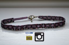 Purple, red and black all on light purple thread :) #fashion #bracelet #jewellery #buy #handmade