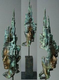 Citadel , bronze sculpture sculpted and cast by the artist Philip Wakeham