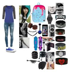 """""""3rd day of school"""" by galaxyunicornlover ❤ liked on Polyvore featuring Yves Saint Laurent, maurices, Converse, Carolina Glamour Collection, Wet Seal, Funk Plus, Mia Bag, Laundromat, Casetify and Michael Kors"""