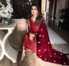 Pakistani Wedding Dresses, Pakistani Outfits, Indian Dresses, Indian Outfits, Indian Attire, Indian Wear, Eastern Dresses, Desi Clothes, Embroidery Fashion