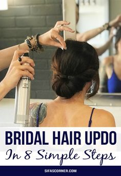 how to do an easy bridal hair updo How to do easy bridal updo in 8 steps, bridal hair updo at home, how to do a soft updo for formal occasions, Tony Odisho hair  #hair #hairdo #bridalhair #weddinghair #hairupdo #softcurls #hairstyle #TonyOdisho #sifascorner