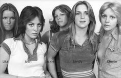 The Runaways with typical '70s hairstyles (1976)