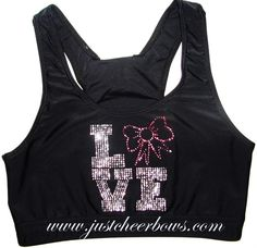 Love Bows Cheer Sports Bra by Justcheerbows on Etsy, $25.00 Cheer Sports Bras, Sport Bras, Cheer Bows, Cheer Clothes, Cheer Outfits, Cheerleading Quotes, Nike Pros, Monsoon, To My Daughter