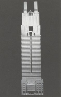 Syracuse University Times Square Student Skyscraper Competition entry, Thomas Peterman, 1983