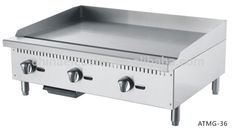 Gas Griddle(Counter-top), Commercial Stainless Steel flat plate Gas grill For…
