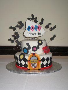Rock n' Roll Inspired Cake