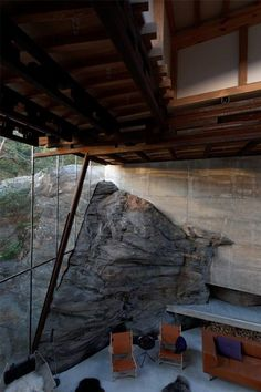 Sommerhus i Storfjord Cabin Interior Design, Interior Decorating, Amazing Architecture, Modern Architecture, Building Design, Building A House, Showroom Design, Architectural Section, House On The Rock