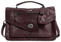 5c1381d9469 Coach 1941 Nwt- Rhyder Python Embossed Ox Blood Red Leather Messenger Bag  41% off retail