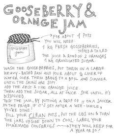 gooseberry and orange jam