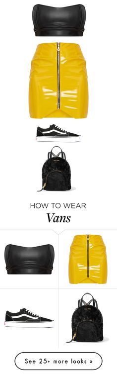 """""""Untitled #5553"""" by twerkinonmaz on Polyvore featuring Vans and Miu Miu"""