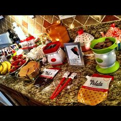 Host a Velata party to earn great Host Rewards! Photo courtesy of Elisa R Ceramic Knife Set, Fondue Party, Chocolate Lovers, Chocolate Fondue, Party Buffet, Host A Party, Youre Invited, Dessert Recipes, Desserts