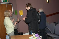 A discussion by our members after the talk by the Hospital Chaplaincy