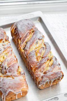 łyżeczki soli 10 g suchych drożdży lub 20 g Healthy Dessert Recipes, Baking Recipes, Delicious Desserts, Cake Recipes, Yummy Food, Polish Desserts, Cookie Desserts, Bread Cake, Loaf Cake
