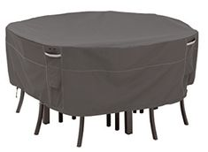 Looking for Classic Accessories Ravenna Round Patio Table & Chair Set Cover, Large ? Check out our picks for the Classic Accessories Ravenna Round Patio Table & Chair Set Cover, Large from the popular stores - all in one. Outdoor Chair Covers, Patio Umbrella Covers, Outdoor Furniture Covers, Garden Furniture, Furniture Ideas, Square Patio Table, Round Table And Chairs, Table And Chair Sets, Patio Chaise Lounge