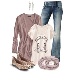 """""""Golden Gate Casual"""" by mrstiffanymayer on Polyvore"""
