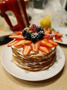 [Homemade] Lemon Cream Crepe Cake
