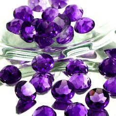 Deep Purple Amethyst Rose Cut Cabochon 8mm Round   1 by JoopyGems, $12.00
