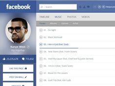 Facebook artist page Facebook Artist Page, Hip Hop Rap, Music Photo, Page Design, Kanye West, Concept, Album, Card Book