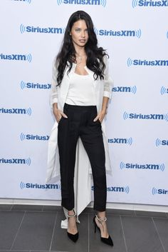 Adriana Lima's Most Jaw-Dropping Red Carpet Looks of 2016 September at SiriusXM Studio in New York City