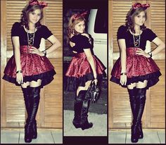Hype this here: http://lookbook.nu/look/2854031-Costume-party-Minnie-Mouse