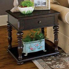 Paula Deen Home Rectangle Tobacco Wood End Table - 932802, Durable