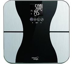 Amazon.com - Smart Weigh Body Fat Digital Precision Scale with Tempered Glass Platform, Eight User Recognition, and 440 lb Weight Capacity, Measures Weight, Body Fat, Water, Muscle and Bone Mass -