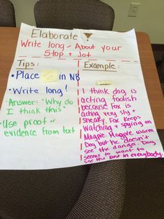 Teaching student how to write long on a topic they are reading!