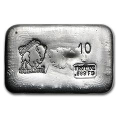 10 oz Silver Bar - Bison Bullion