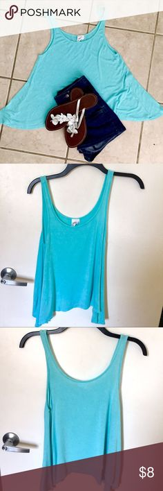 Selling this CUTE & SOFT AQUA TANK TOP on Poshmark! My username is: pinktequilas. #shopmycloset #poshmark #fashion #shopping #style #forsale #Full Tilt #Tops
